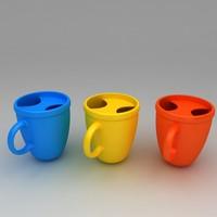 3d model donuts coffee mug