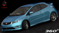 3d model honda civic type-r 2007
