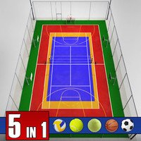 3ds max multi sport court pack