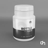 3dsmax bottle 3x3 30 ml