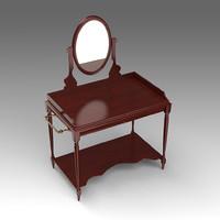 3d dressing table model