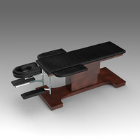3d massage table model