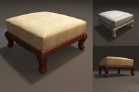 3d model footrest furniture