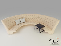 sofa curved 3d max