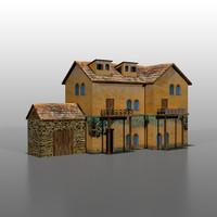 3d model italian house