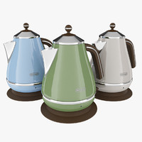 3d longhi icona vintage kettle model