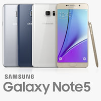 samsung galaxy note5 3d model