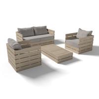 3d model wooden outdoor forniture set design
