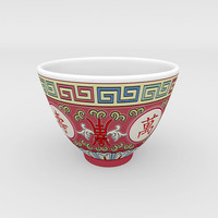 3d traditional chinese porcelain tea cup