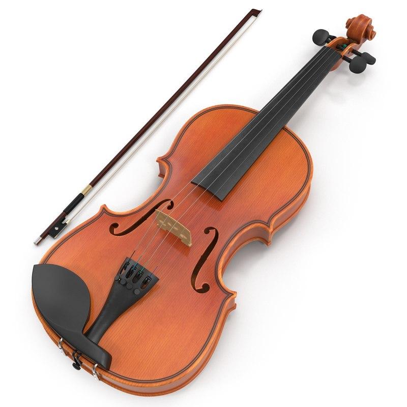 Violin Set 3d model 01.jpg