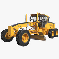 3d model road grader rigged