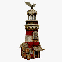 3ds max lighthouse medieval