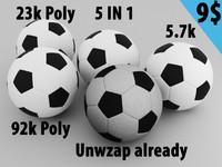 polys soccer ball 3d model