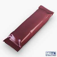 candy wrapper v 4 3d model