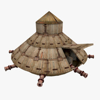 3d model tank structure