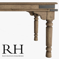 3d model of dining table rectangular
