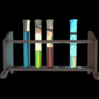 3d chemicals test tubes