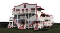 bunk house canada 3d fbx