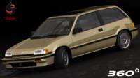 3d honda civic si 1986