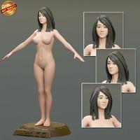 maya modeled body female