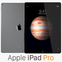 3d apple ipad pro space model
