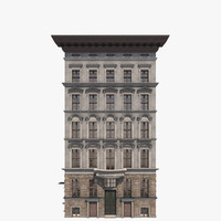 apartment building friedrichsgracht 3d 3ds