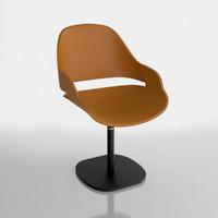 3d model of zanotta chair eva 2269