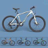 3dsmax realistic mountain bike modeled