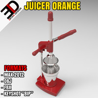 juicer orange juice 3d max