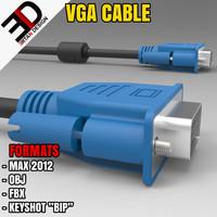 3d model vga monitor cable