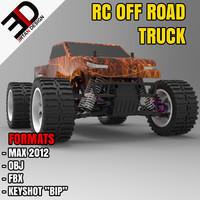 rc road truck 3d model