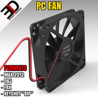 3d model pc fan