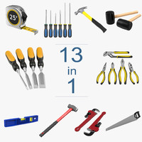 3d tools set 6 model