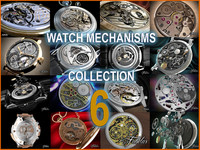 watch mechanisms 3d model