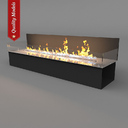 electric fireplace 3D models