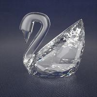 crystal swarovski swan 3d max