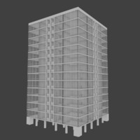 apartment skyscraper building interior 3d obj