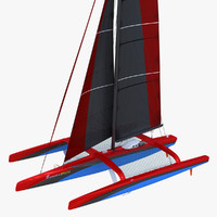 3d model ultim class trimaran