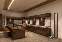 3d office room model