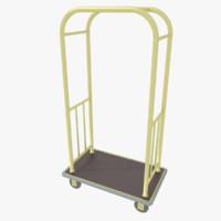 3d hotel cart model