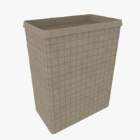 3d model hesco barrier
