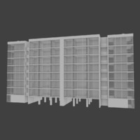 3d model apartment building interior exterior