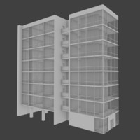 3d apartment building interior exterior model