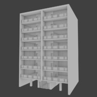 3d model of apartment building interior exterior