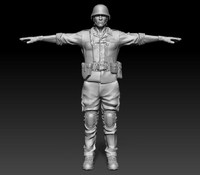 3d model of sculpt soldier helmet