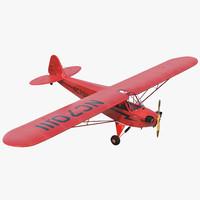 3d light aircraft piper j