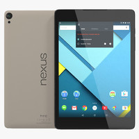 3d google nexus 9 beige model