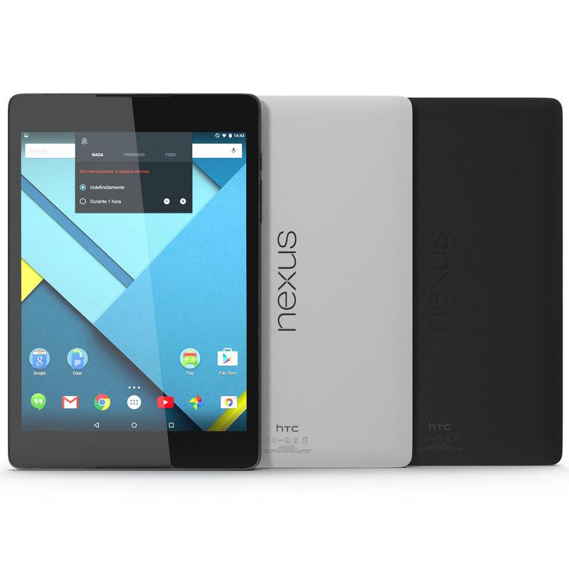 Google Nexus 9 Set 3d models 01.jpg