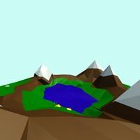 cartoon landscape toon 3d max