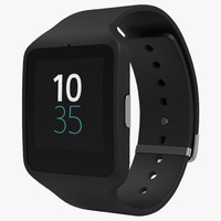 sony smartwatch 3 black 3d max